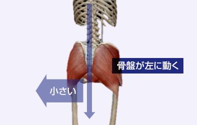 骨盤が左に動く
